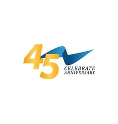 45 years anniversary celebration elegant ribbon vector
