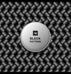 Abstract 3d black metallic weave pattern on dark vector
