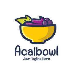 Acai logo design template vector