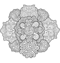adult coloring book page with abstract pattern vector image