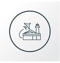 airport building icon line symbol premium quality vector image