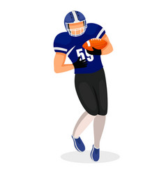 american football match player with ball vector image