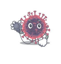 An elegant microbiology coronavirus in a doctor vector