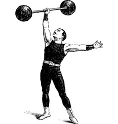 Ancient sportsman vector