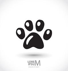 Animal footprint vector
