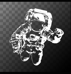 Astronaut on transparent background - elements of vector