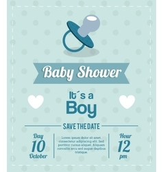 Baby Shower design pacifier icon graphic vector image