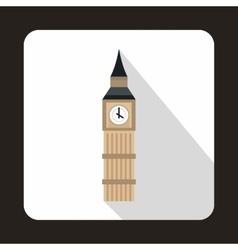 Big Ben in Westminster London icon flat style vector