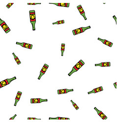 bottle beer pattern seamless vector image