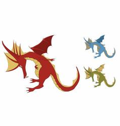 bowing cute dragon vector image