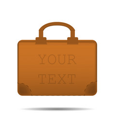 briefcase advertising for text vector image