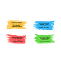 brush banners infographic labels and vector image