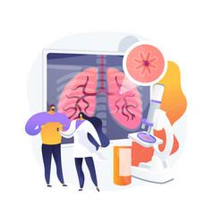 Chronic obstructive pulmonary disease abstract vector