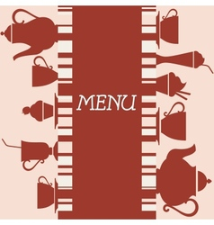 Coffeehouse menu design vector image