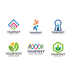 collection of abstracts logo vector image