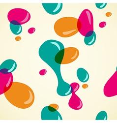 Colors bubbles pattern vector