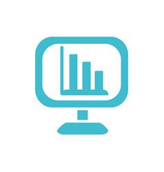 computer statistics diagram report business vector image