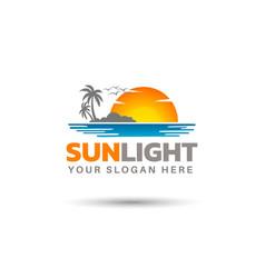 Creative sunlight logo design vector