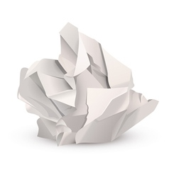 crumpled paper ball vector image