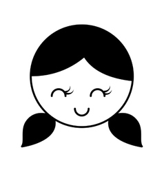 cute girl character icon vector image