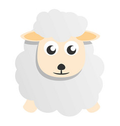 cute sheep mascot icon cartoon style vector image