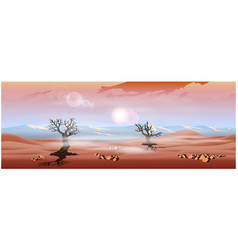 desert panorama of the highlands vector image