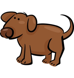 doodle dog vector image