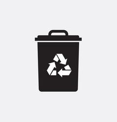 eco recycle icon trash or garbage basket vector image