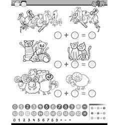 Education math activity vector