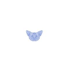 Fennec fox head mandala vector