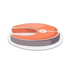 Fish slice vector image
