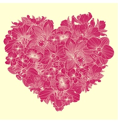 Flowers composition in a shape of heart vector image