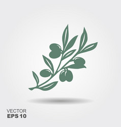 Green olive branch logo vector