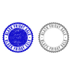 grunge black friday sale textured stamp seals vector image