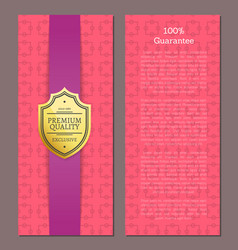 guarantee exclusive premium quality golden label vector image