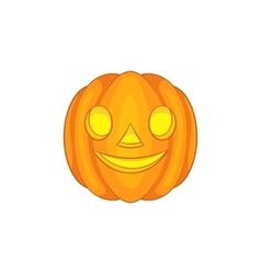 Halloween pumpkin icon cartoon style vector image