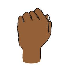 hand person cartoon draw vector image
