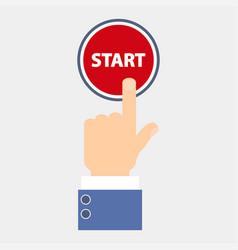 Hand push start vector