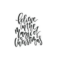 Handdrawn christmas lettering vector