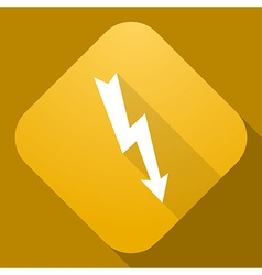 icon of Lightning Sign with a long shadow vector image