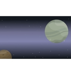 Landscape of space background planet with stars vector