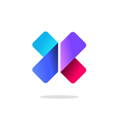 Letter x logo sign gradient colorful vector