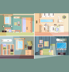 living room banners indoor composition vector image