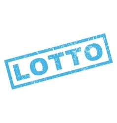 Lotto Rubber Stamp vector