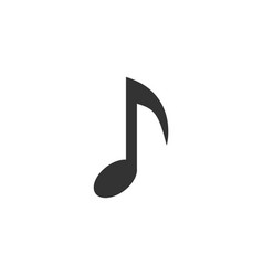 music note icon flat vector image