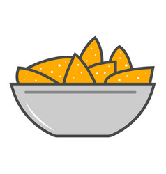 nacho cheese isolated icon vector image