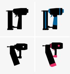 nail gun vector image