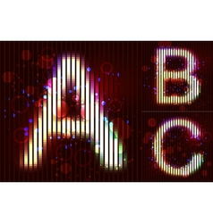 Neon Light Alphabet - ABC vector image