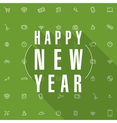 New year shopping card template vector
