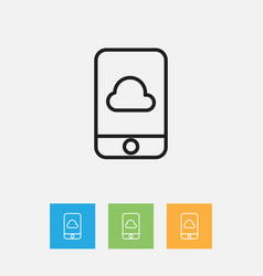 of weather symbol on cloud in vector image